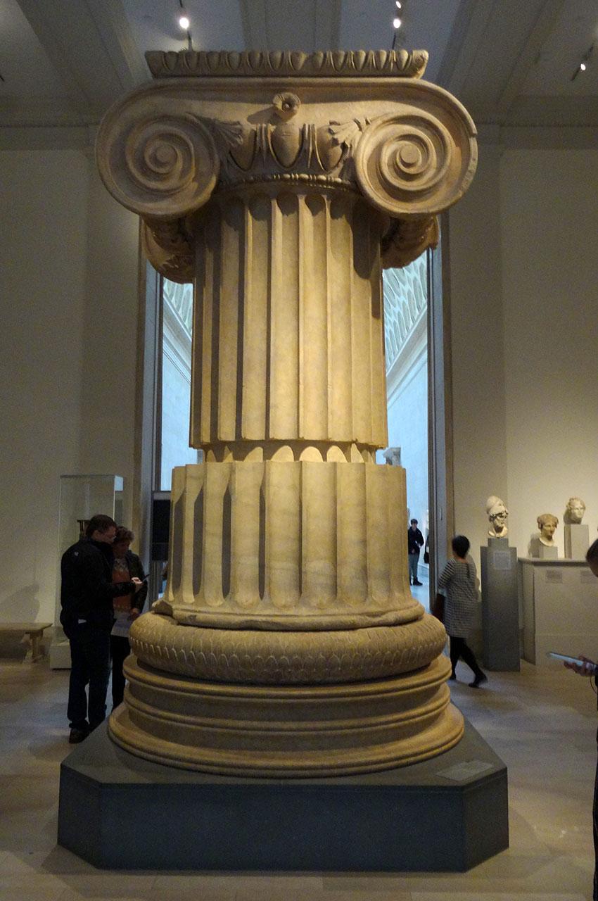 Colonne en marbre du temple d'Artémis à Sardes