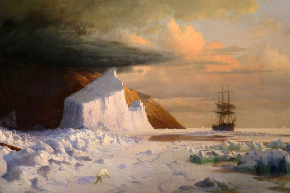 Un été arctique : plate à travers le peloton dans la baie de Melville de William Bradford