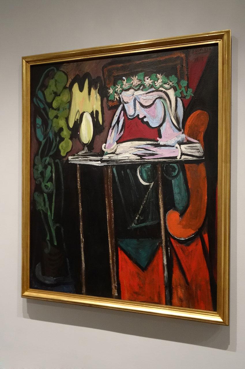 La lecture sur une table de Pablo Picasso