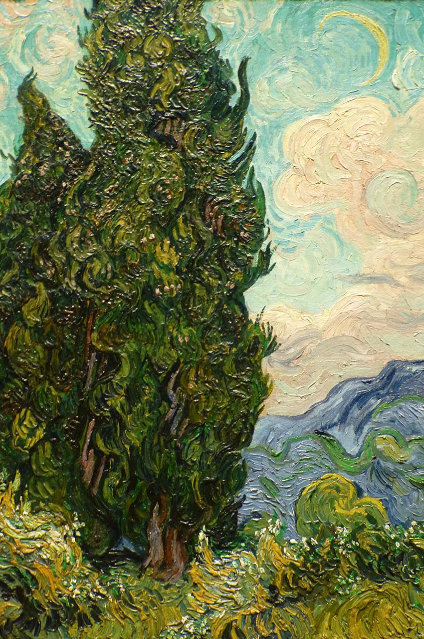 Les cyprès de Vincent van Gogh