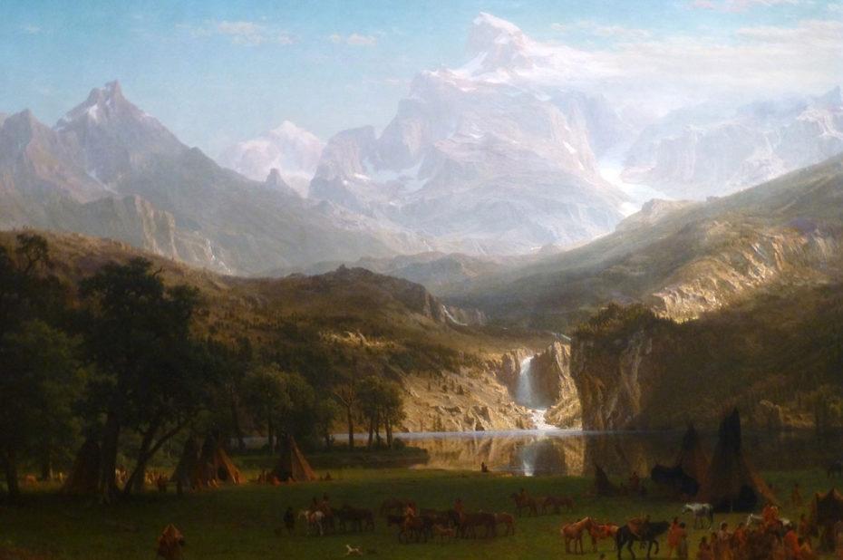 Les Montagnes Rocheuses, le pic du Lander d'Albert Bierstadt