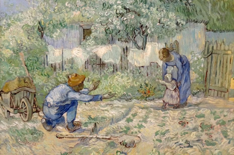 Les premiers pas, d'après Millet de Vincent Van Gogh