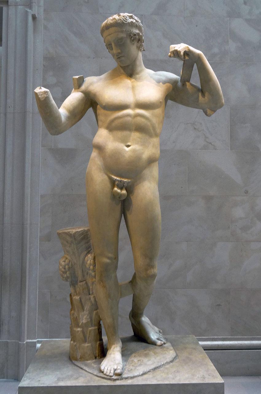 Statue de marbre du Diadoumenos