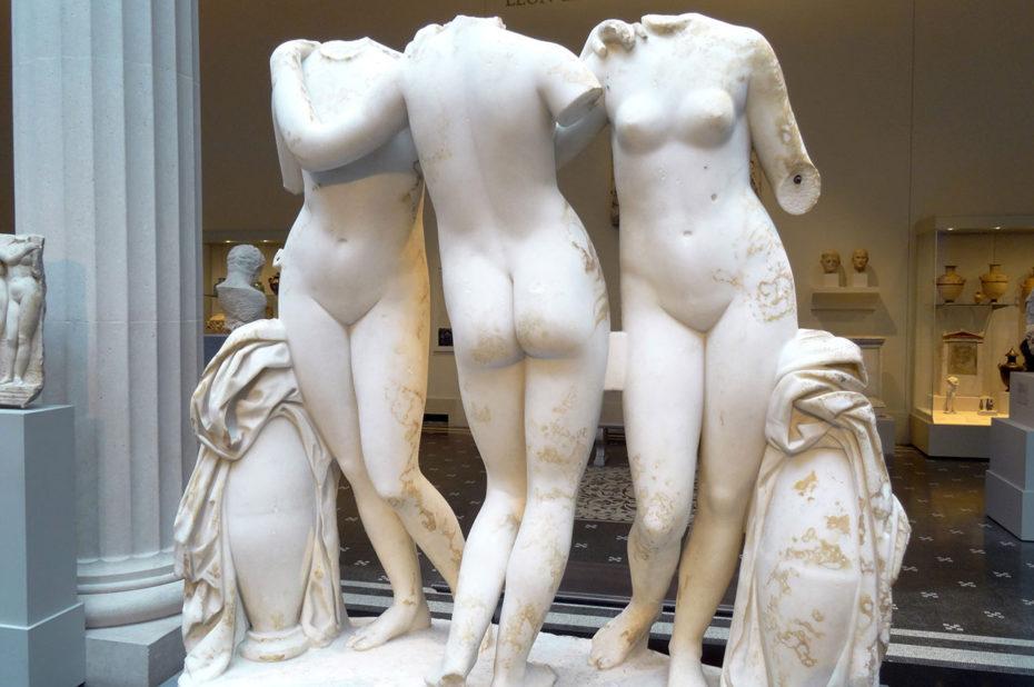 Statue en marbre des Trois Grâces, 2e siècle après J.-C.