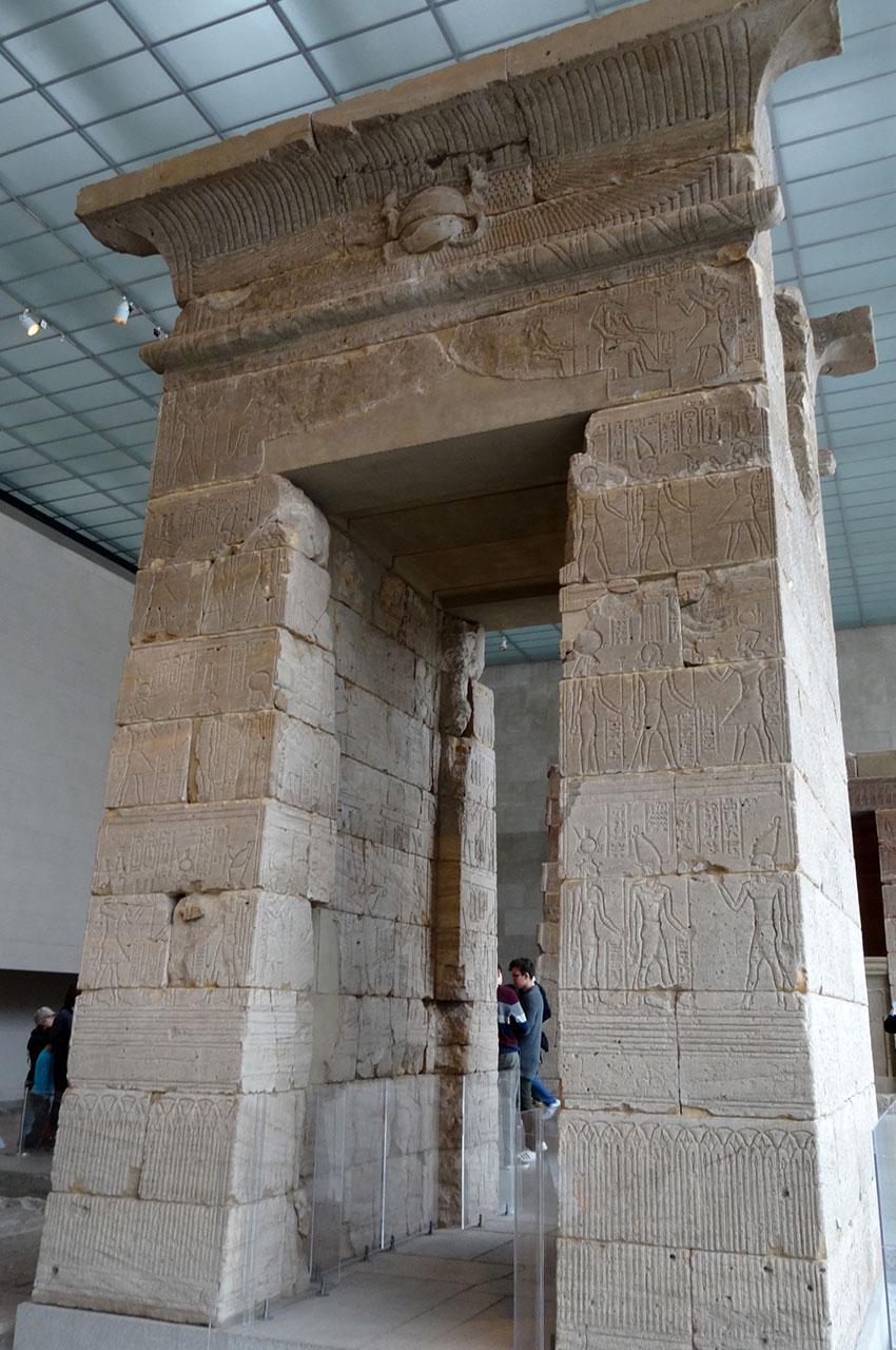 Le temple nubien de Dendour a été construit pendant la période romaine