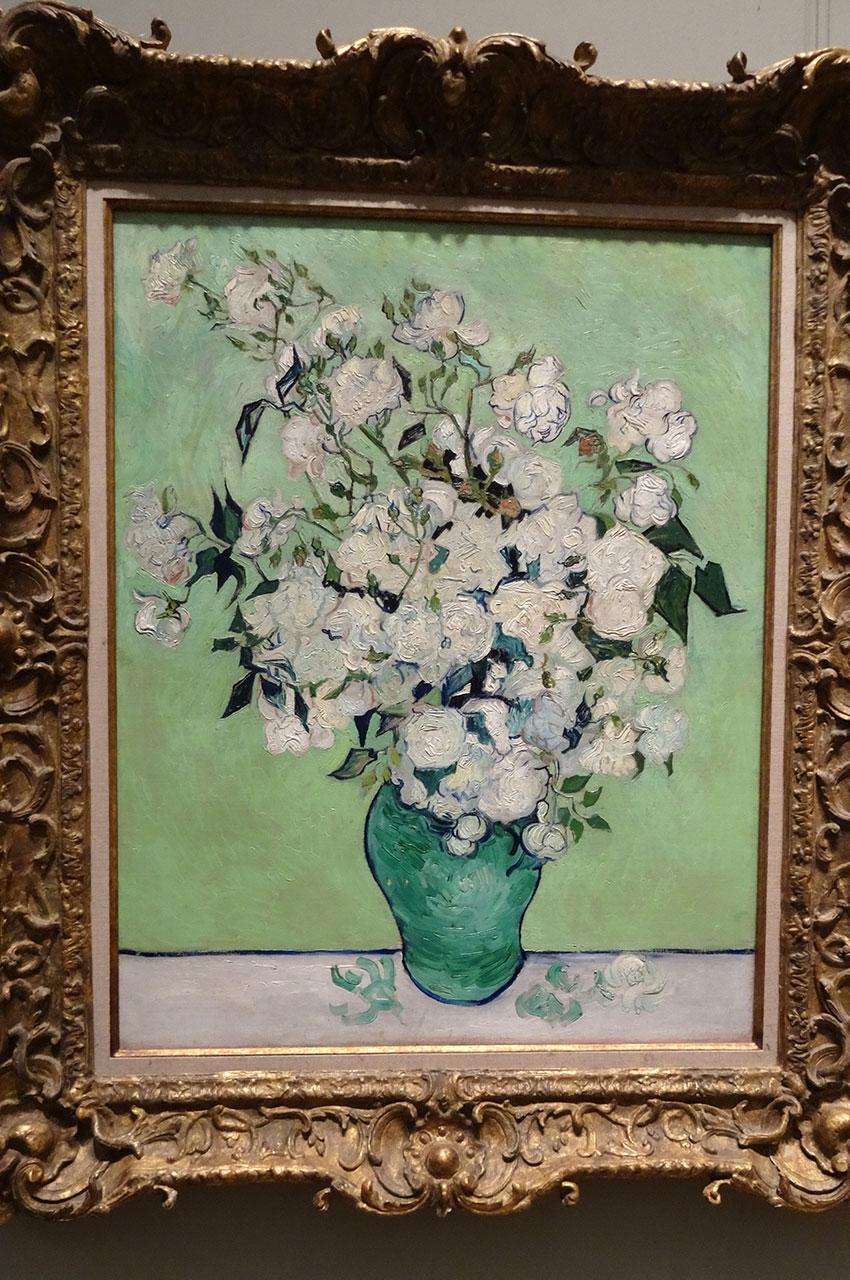 Vase de roses blanches de Vincent Van Gogh