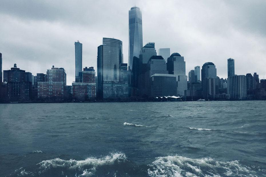 Vue sur Manhattan, New-York, effet bleu