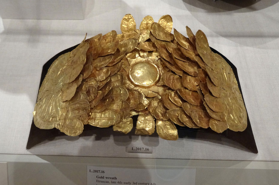 Couronne d'or d'origine étrusque