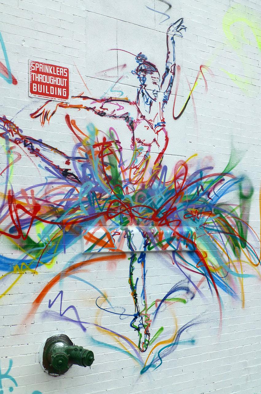 Graffiti d'une danseuse