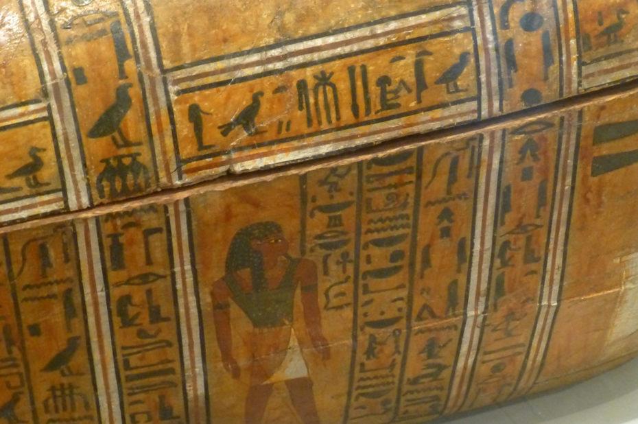 Détail du cercueil de Teti