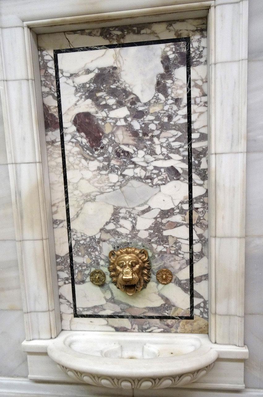 Fontaine dans les couloirs de la Public Library de New York