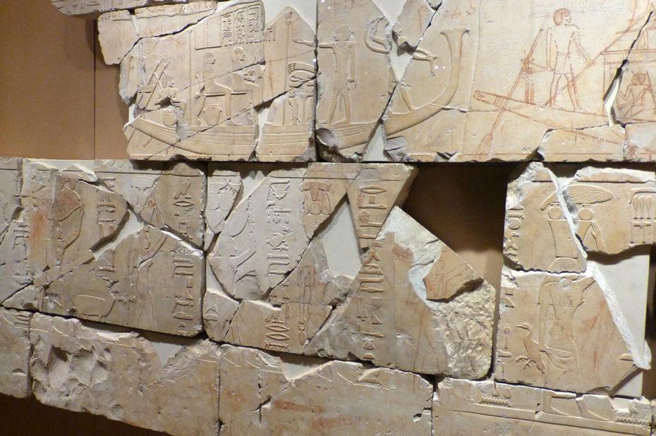 Fresque en relief de la tombe du vizir Nespeqashuty