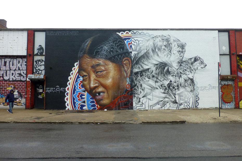 Fresques sur les murs du quartier de Bushwick