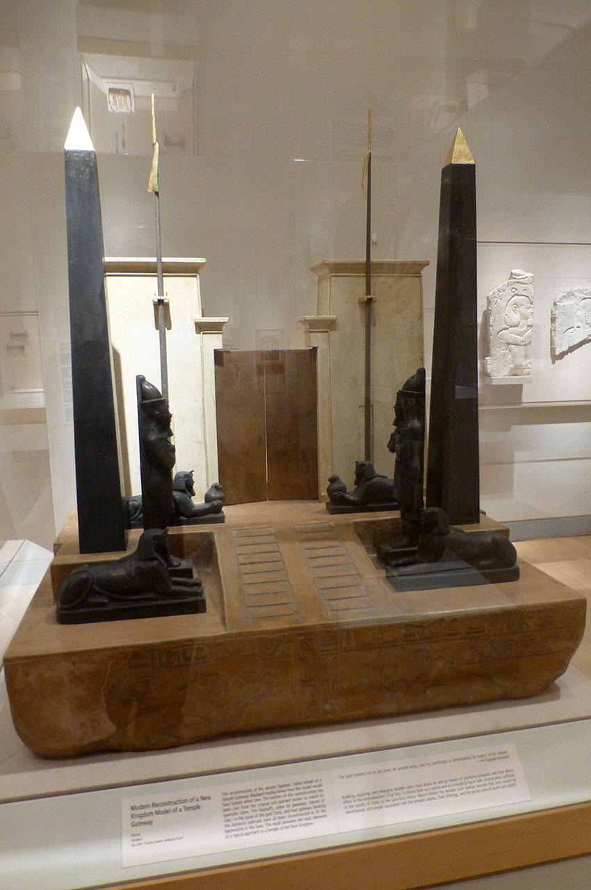 Maquette d'un nouveau modèle de temple-passerelle