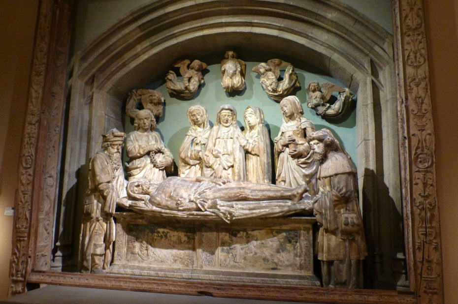 Mise au tombeau du Christ, calcaire datant de 1515