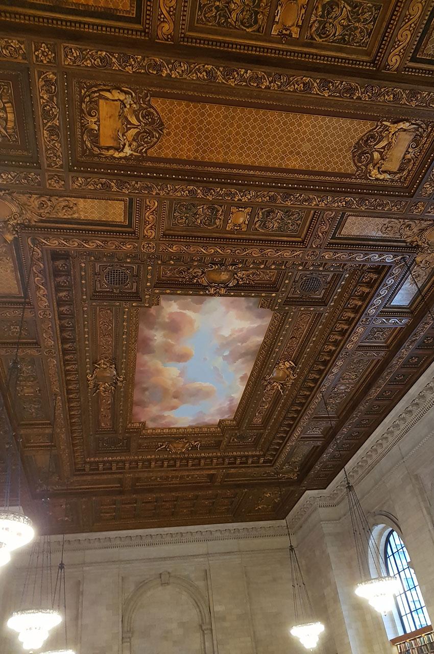 Plafond de la Bill Blass Public Catalog Room