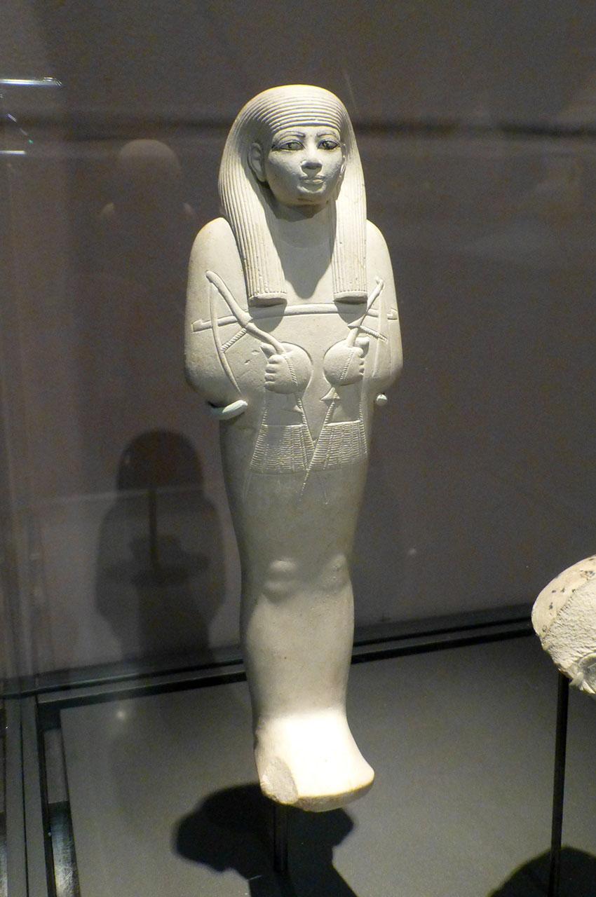 Shabty de l'homme Kenamun. Statuette en calcaire.