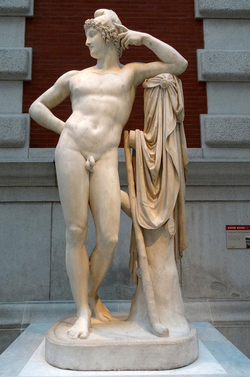 Statue de Paris en marbre d'Antonio Canova