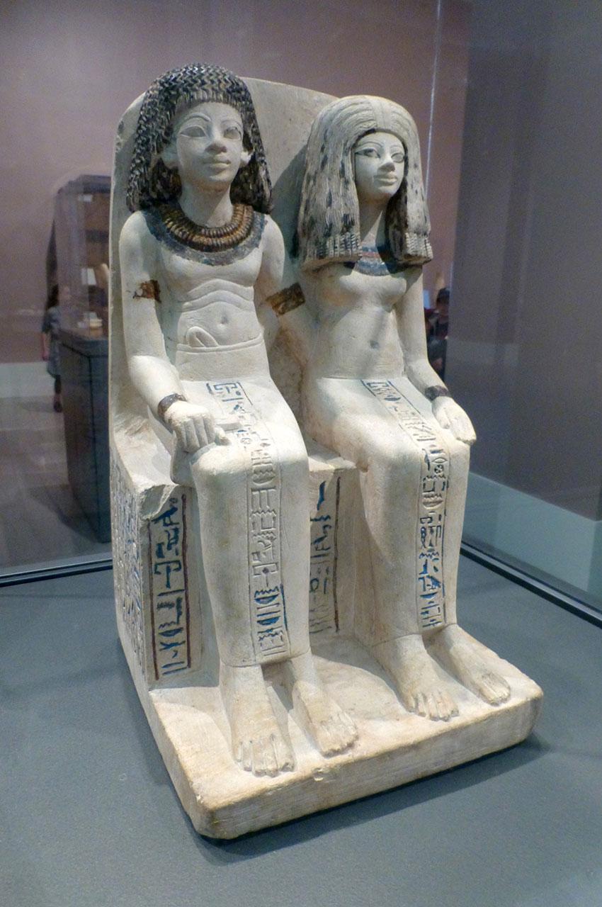 Statue de Nebsen et Nebet-ta