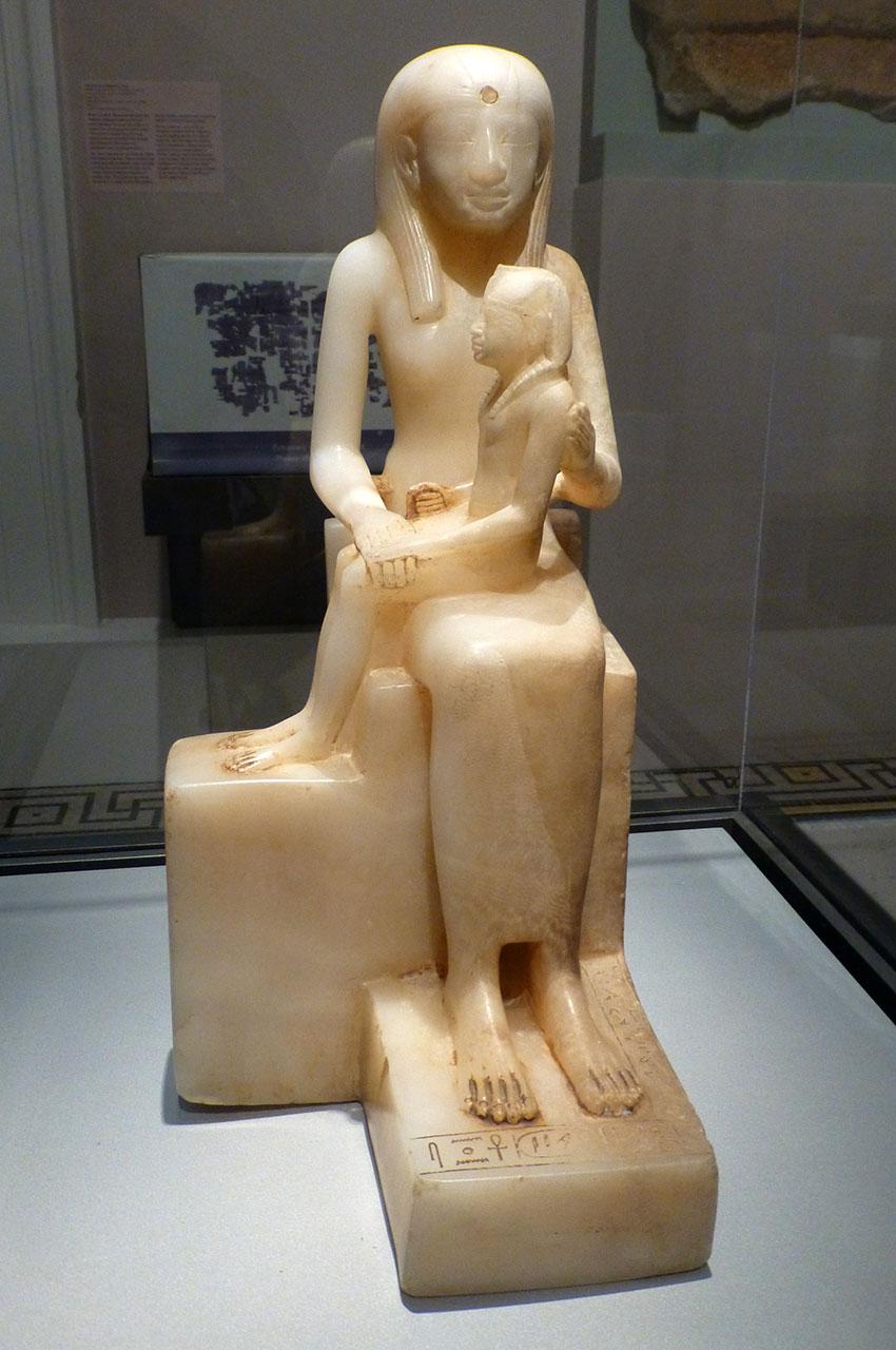 Statue de la reine Ankhnès-Meryre II et son fils, Pepy II