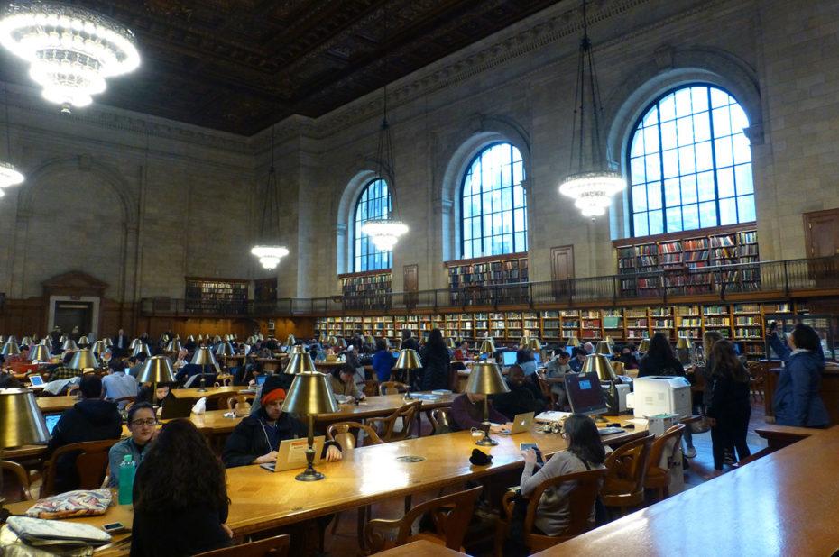 La visite de la New York Public Library est gratuite