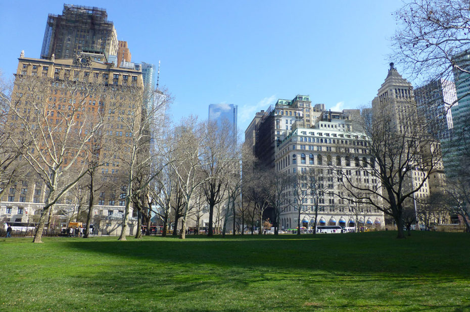 Battery Park, au sud de Manhattan