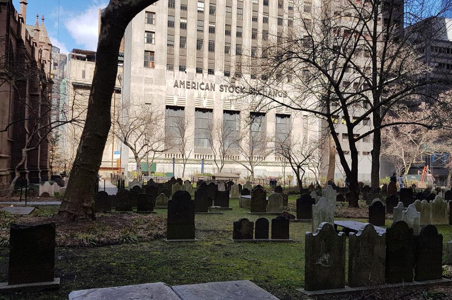 Le cimetière derrière l'église