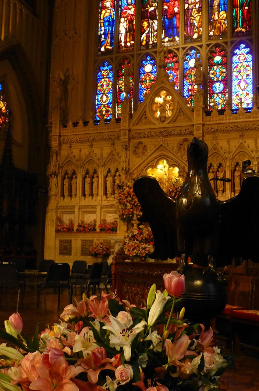 Une église très fleurie