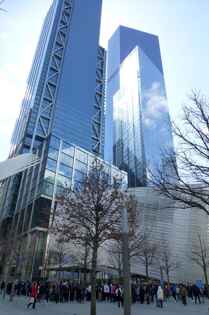 L'entrée du musée consacré aux attentats du 11/09/2001