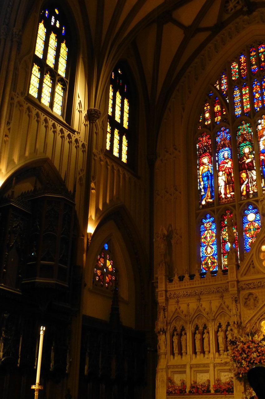 L'intérieur de l'église de la Trinité