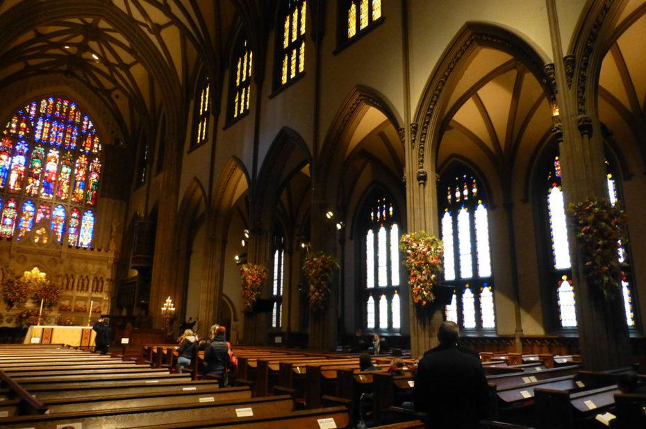 La nef principale de l'église Trinity Church