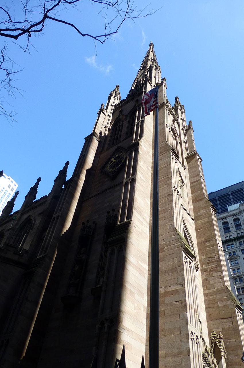 Église épiscopalienne au sud de Manhattan