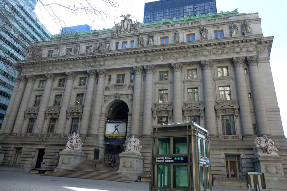 US Custom House et archives nationales de New York