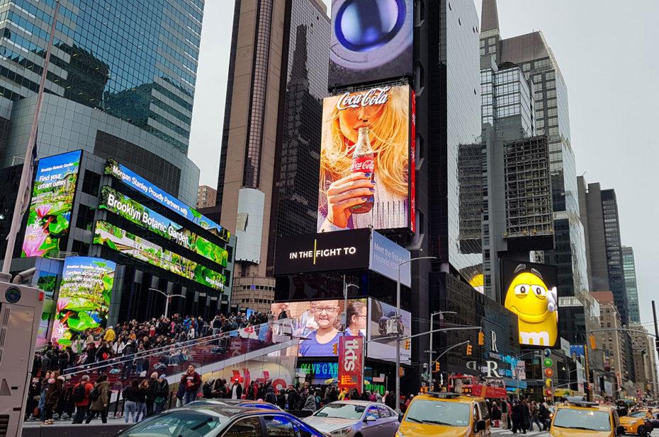 Coca-Cola, M&Ms... tous présents à Times Square