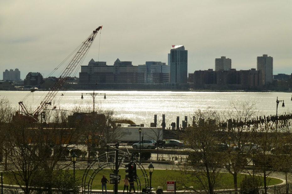 Coucher de soleil sur le fleuve Hudson