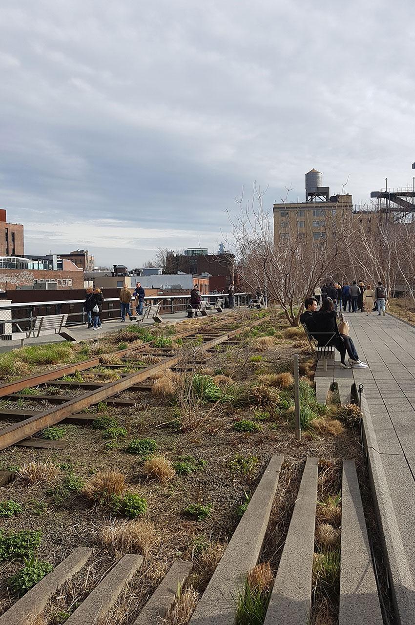 Extrémité sud de la High Line, au niveau de la 12th street