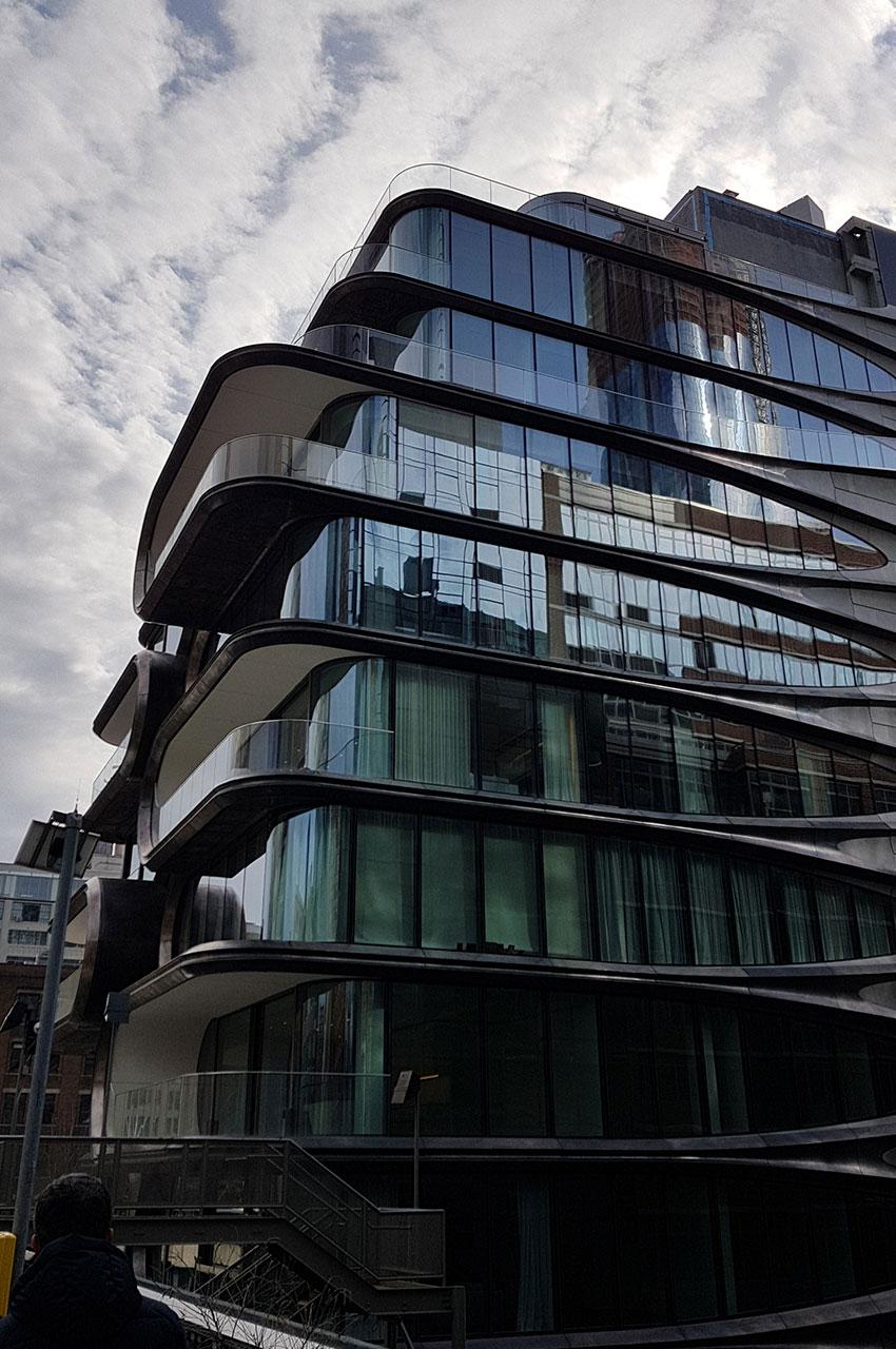 Immeuble profitant de la quiétude de la High Line