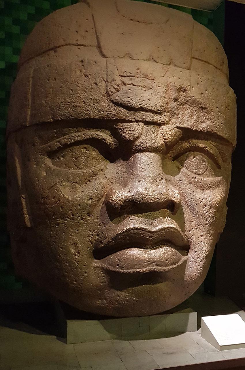Tête colossale de San Lorenzo, civilisation olmèque