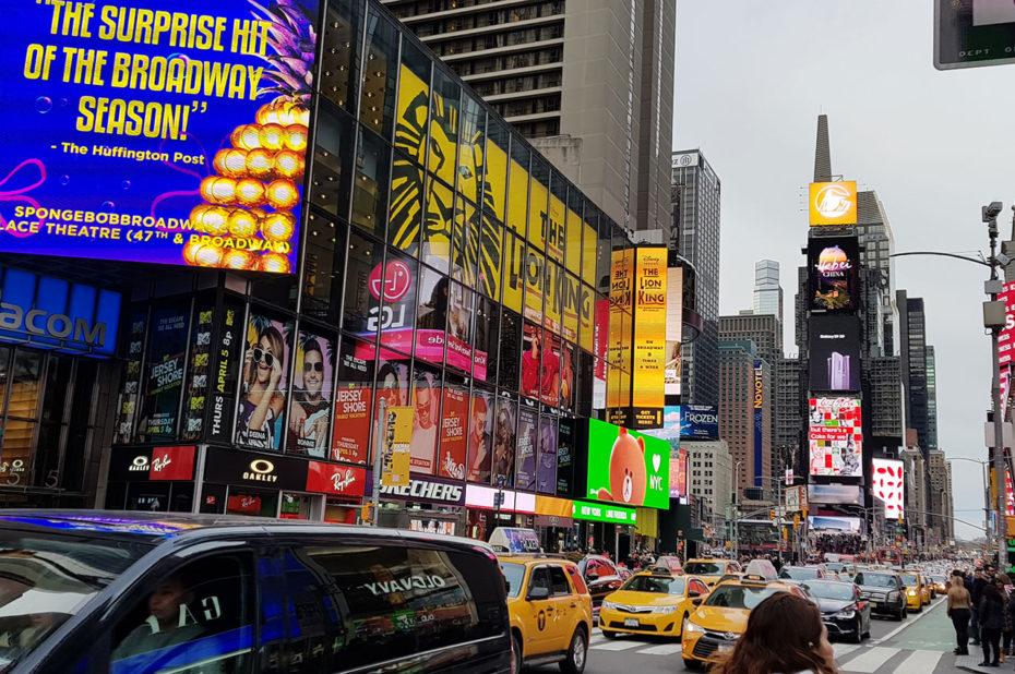 Times Square voit passer plus de 300 000 personnes chaque jour