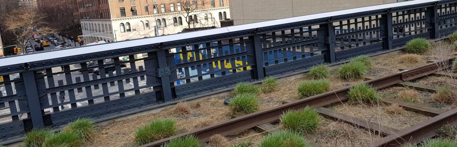 L'ancienne voie ferrée de la High Line, au cœur de New York