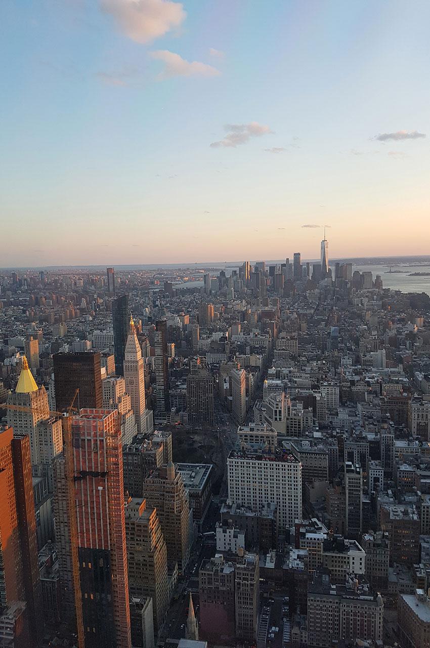 La vue sur Manhattan est tout simplement exceptionnelle