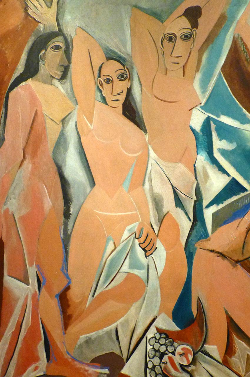 Détail de la peinture les Demoiselles d'Avignon de Pablo Picasso