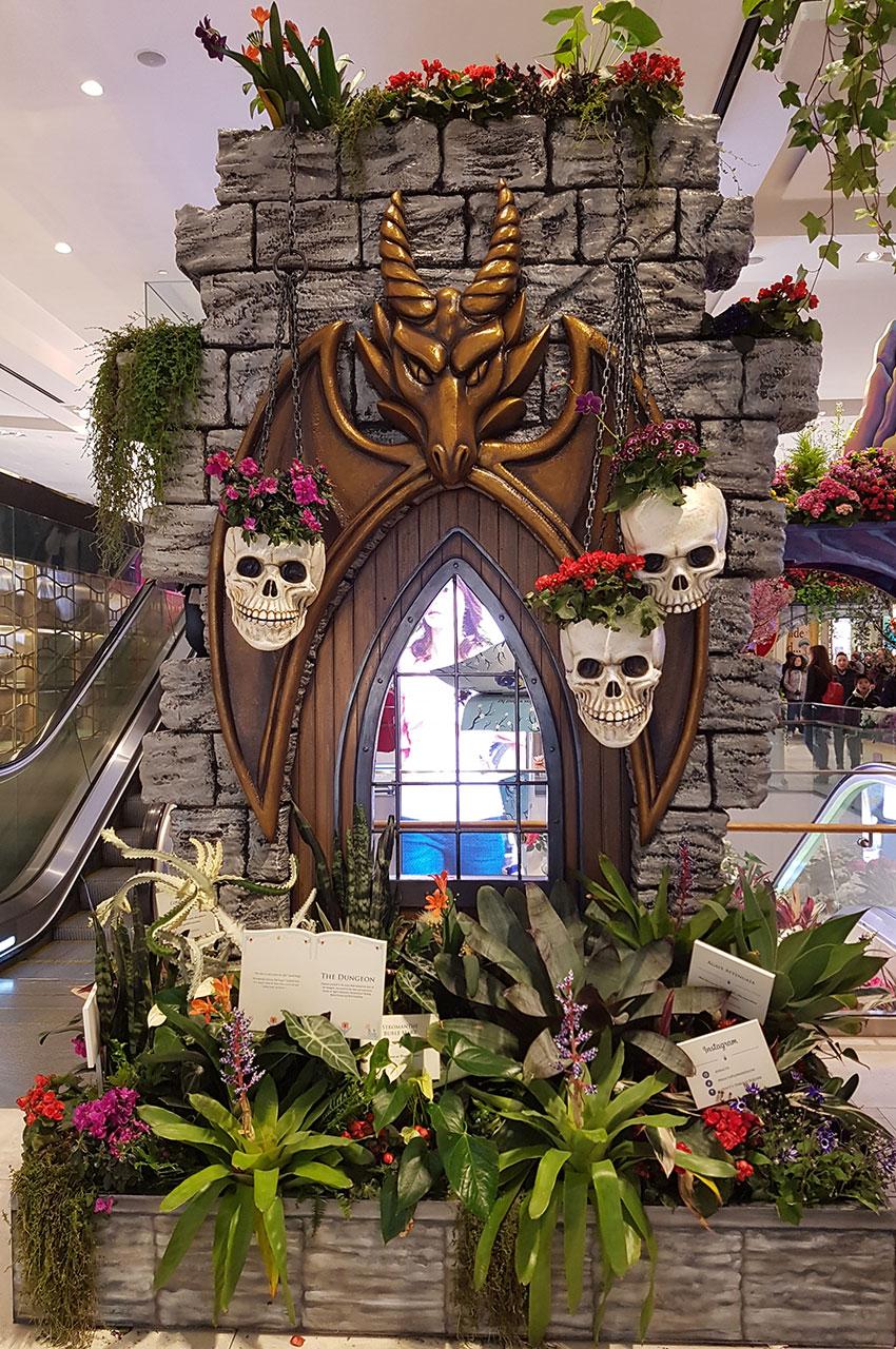 Le donjon, décoration chez Macy's