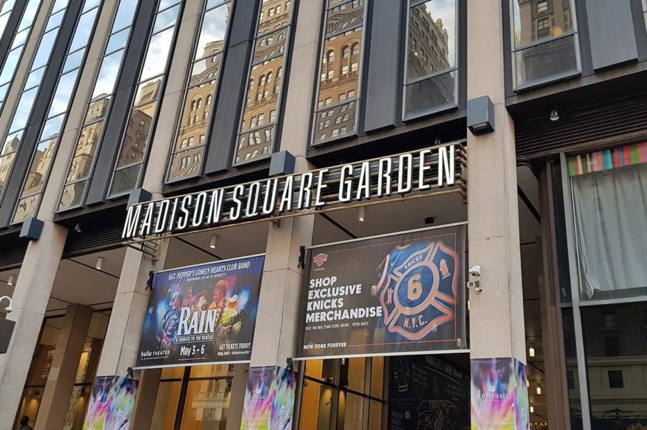 L'entrée du Madison Square Garden