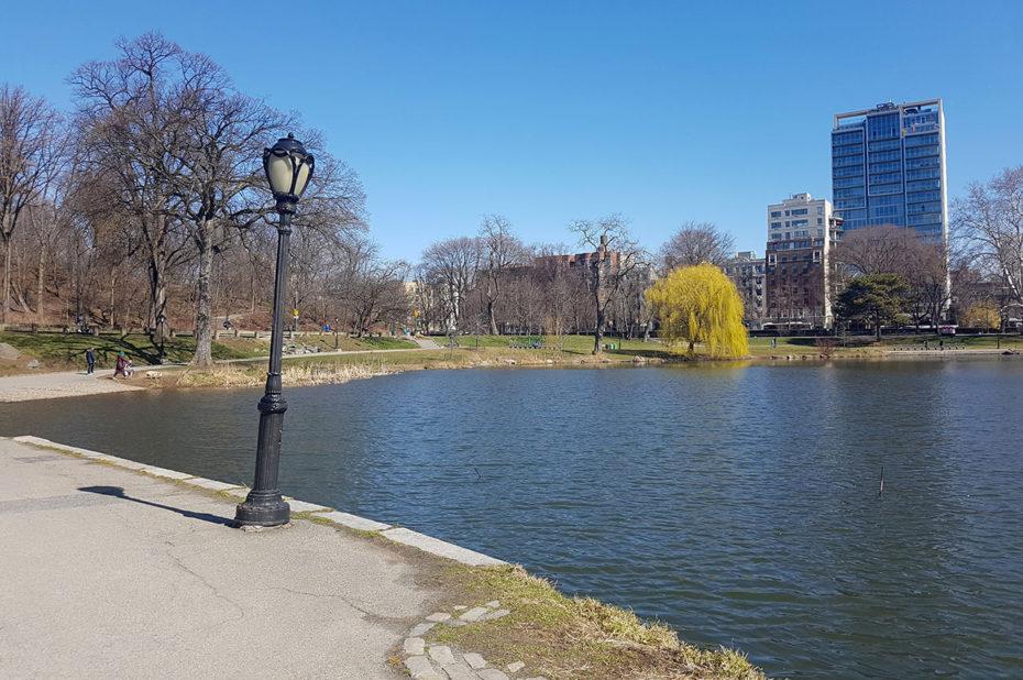 Harlem Meer au nord de Central Park