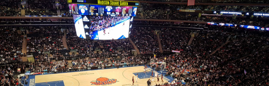 Match NBA des Knicks au Madison Square Garden