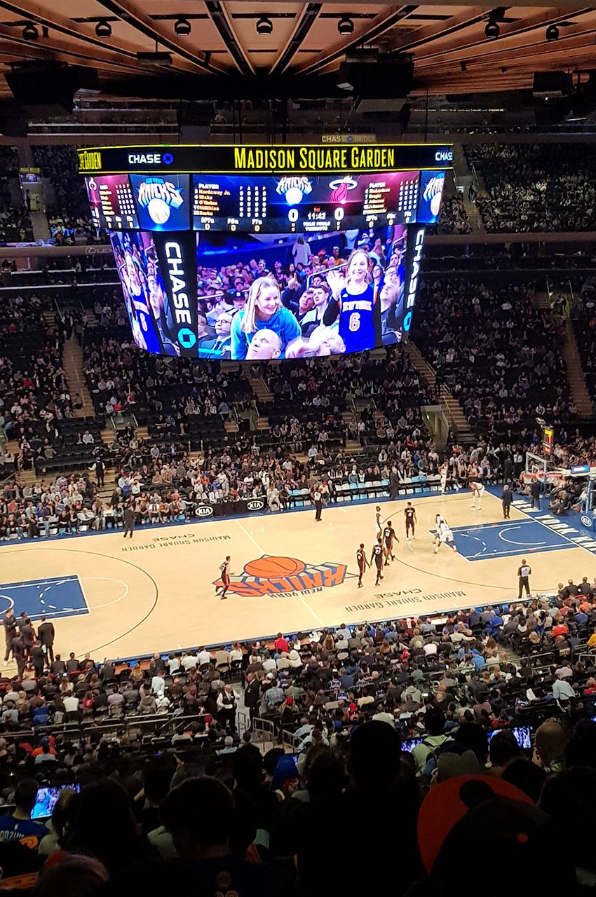 C'est parti pour le match NBA Knicks NYC - Miami Heat