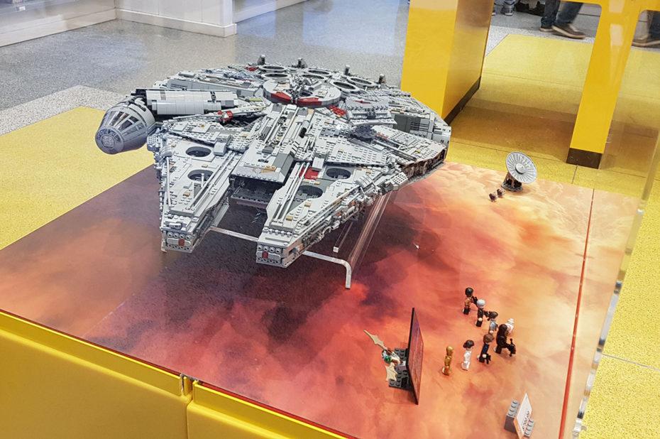 Millennium Falcon Star Wars au Lego Store