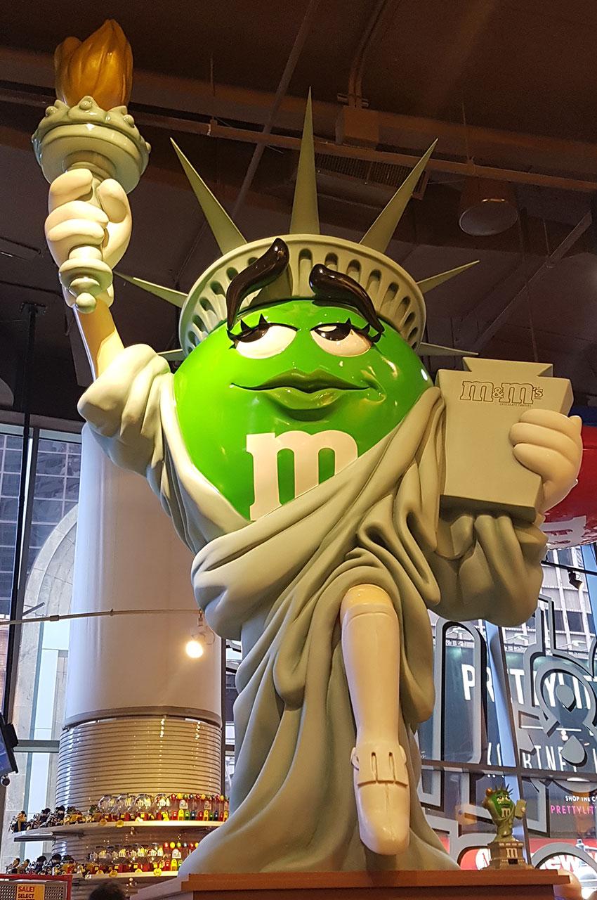 M&Ms Statue de la Liberté