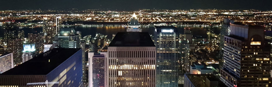 New York by night, depuis le Top of the Rock